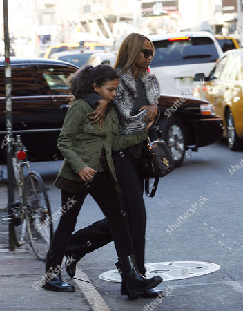 Editorial image of Iman and daughter Alexandria out and about in New York, America - 04 Nov 2011