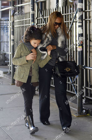 Editorial picture of Iman and daughter Alexandria out and about in New York, America - 04 Nov 2011