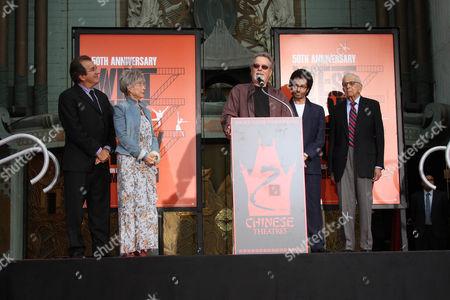 George Chakiris, Rita Moreno and Russ Tamblyn and Walter Mirisch