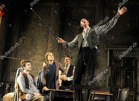Ronan Rafferty as Johnny, Sinead Cusack as Juno, Ciaran Hinds as Jack and Risteard Cooper as Joxer