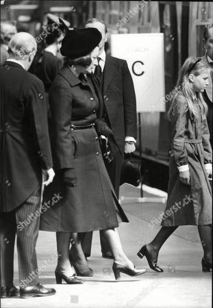 Earl Mountbatten Funeral Lady Pamela Hicks And India Hicks Boarding Train At Waterloo Station. Earl Mountbatten Was Killed When His Boat Shadow V Was Blown Up By Ira Half A Mile Out Of Mullaghmore Harbour Ireland