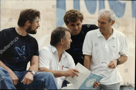 Author Lev Mukhametov L-r Mike Brett Ray Gravener Alan Knight And Professor Lev Mukhametov