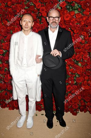 Stock Picture of Terence Koh (Asian Punk Boy) and Michael Stipe