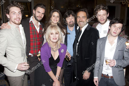 Stock Photo of Rory Fleck-Byrne (King Philip of France), Tom Bateman (Prince Richard), Joanna Lumley (Queen Eleanor), Sonya Cassidy (Princess Alais), Sir Trevor Nunn (Director), Robert Lindsay (King Henry II), James Norton (Prince Geoffrey) and Joseph Drake (Prince John)