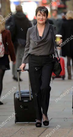 Miriam O'Reilly Arrives The Central London Employment Tribunel.re BBC's Country File Programme.