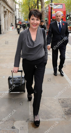 Editorial photo of Miriam O'reilly Leaves The Central London Employment Tribunal. Followed By Husband Mark....re Bbc's Country File Programme. Picture Murray Sanders