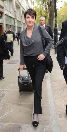 Miriam O'Reilly Leaves The Central London Employment Tribunal. Re BBC's Country File Programme.