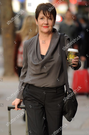 Stock Image of Miriam O'Reilly Arrives The Central London Employment Tribunal Re BBC's Country File Programme.