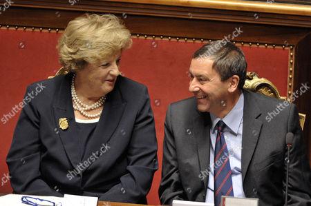 Anna Maria Cancellieri, Minister of Interior and Francesco Profumo, Minister of Education