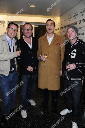 Sean Pertwee (2L) and guests