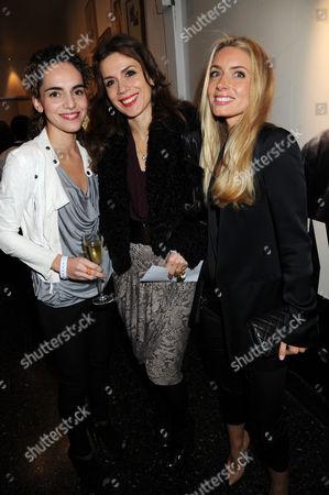 Lara Bohinc (C) and guests