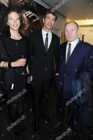 Stock Picture of Catherine Donaldson, director Alex Turnbull and William Turnbull