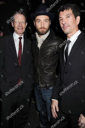 Stock Photo of Sir Nicholas Serota, Jude Law and director Alex Turnbull