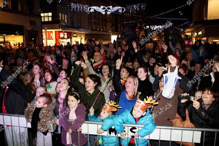 Editorial picture of Marcus Patrick turning on Christmas Lights in Portsmouth, Britain - 17 Nov 2011