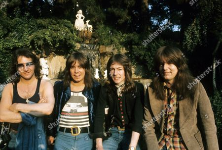 Smokie - Chris Norman, Terry Uttley, Pete Spencer and Alan Silson at Disneyland, California