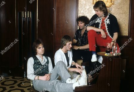 Stock Picture of Smokie - Chris Norman, Pete Spencer, Terry Uttley and Alan Silson in Dublin, Ireland
