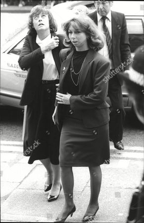 Actress Helen Worth (r) Attends The Funeral Pat Phoenix At The Holy Name Church Manchester.