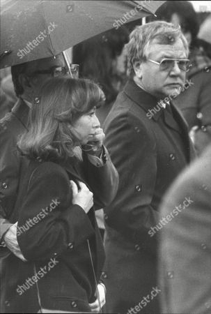 Editorial picture of Helen Worth Attends The Funeral Of Baby Leah King Who Has Died Of Cot Death. Baby Leah Played The Part Of Her Daughter Sarah In Coronation Street.