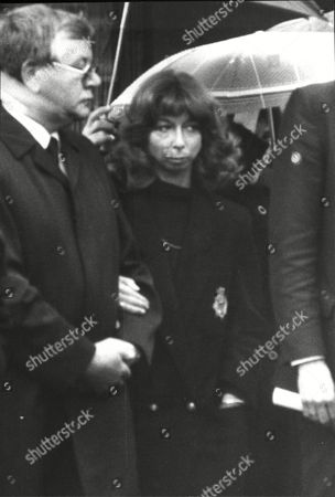 Stock Photo of Actress Helen Worth Attends The Funeral Of Leah King A Baby Cast In Coronation Street Who Died Of Cot Death. The Service Took Place At Butler Street Methodist Church Ancoats Manchester.