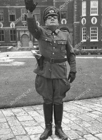 Comedian Harry Worth In German Officer Uniform At Ham House Petersham Filming An Episode Of His New Tv Series. The Episode Is Called 'private Pimpernel'.