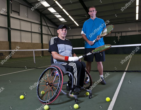Editorial picture of Para Olympic tennis player, Peter Norfolk at Aldershot Tennis Centre, Surrey, Britain - 26 Aug 2011
