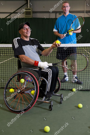 Stock Image of Peter Norfolk with coach Stuart Wilkinson