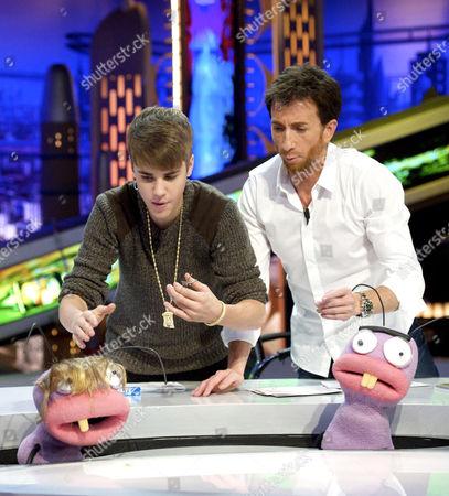 Justin Bieber and Pablo Motos