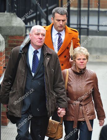 Bob and Sally Dowler with their lawyer Mark Lewis