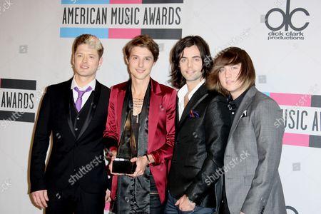 Nash Overstreet, Ryan Follese, Ian Keaggy and Jamie Follese of the Band Hot Chelle Rae