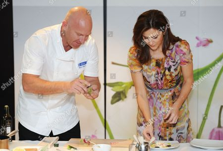 Crown Princess Mary joined the Danish Agriculture and Food Council to celebrate Danish gastronomy, with Australian chef Matt Moran