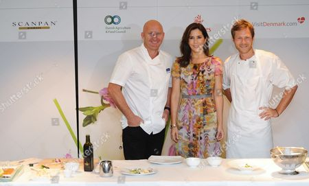 Crown Princess Mary joined the Danish Agriculture and Food Council to celebrate Danish gastronomy, with Australian chef Matt Moran and Rasmus Kofoed from Copenhagen