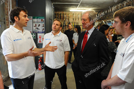 Chairman of Barclays Marcus Agius with Bikeworks staff