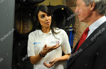 Christine Bleakley with Chairman of Barclays Marcus Agius