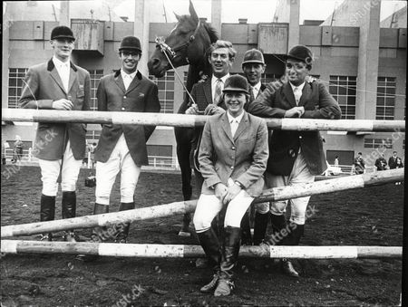 The 1967 Royal International Horse Show Showing From Left To Right John Baillie Andrew Fielden David Broome Peter Robesom Harvey Smith And Marian Coakes