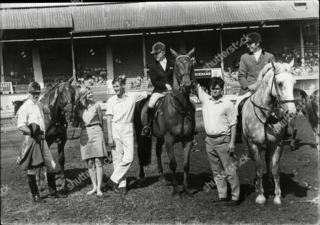 The 1967 International Horse Show At The White City Stadium In West London The Line Up From Left To Right David Broome Marion Cokes (now Mrs David Mould) John Baillie Althea Roger-smith Harvey Smith And Andrew Fielder