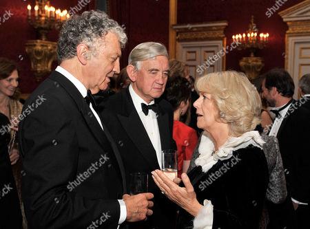 Camilla Duchess of Cornwall talks to Royal Biographer William Shawcross