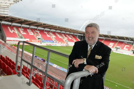 Roy Martin Noble at the home of Wales' Scarlets rugby team, Parc Y Scarlets