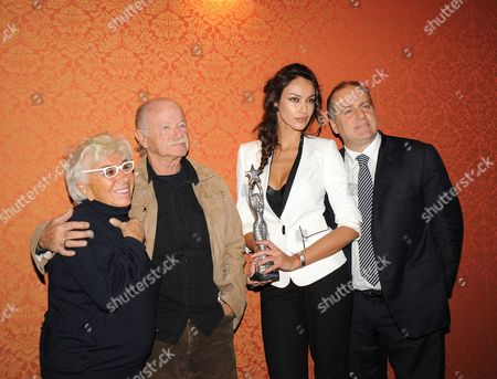 Director Lina Wertmuller, Honorary President of the Festival, singer Gino Paoli, President of the Festival, Madalina Ghenea, 'godmother' of the festival, and Pascal Vicedomini, founder of Festival