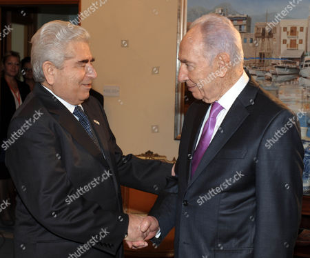Editorial image of Shimon Peres in Nicosia, Cyprus - 03 Nov 2011