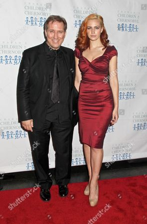 Stock Photo of Mark Kostabi and Martina Markota