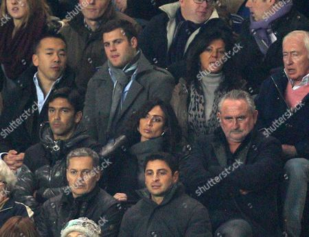 Christine Bleakley in the stands with Frank Lampard Snr