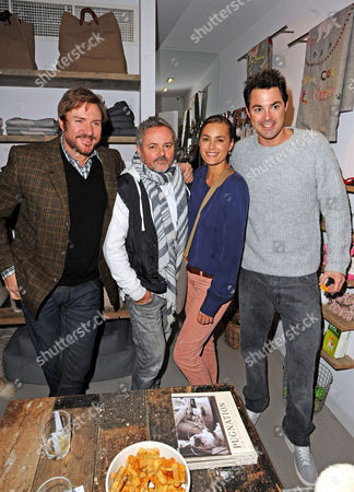 Simon and Yasmin Le Bon with Nellee Hooper and Lucas White