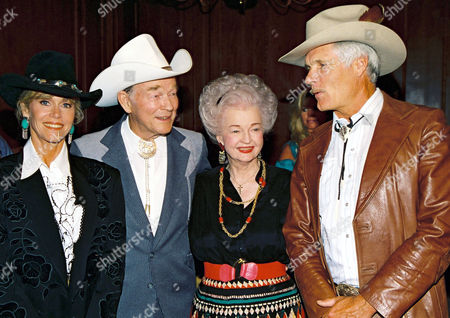 Jane Fonda, Roy Rogers, Dale Evans, and Ted Turner
