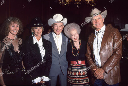Jane Fonda, Roy Rogers, Dale Evans and Ted Turner