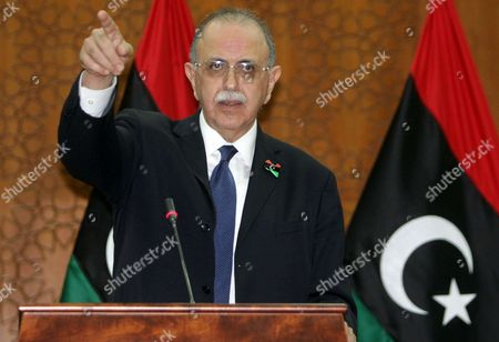 Stock Photo of Libyan interim Prime Minister Abdurrahim El-Keib