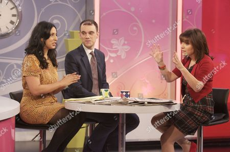 Aasmah Mire and Sam Delaney with Lorraine Kelly