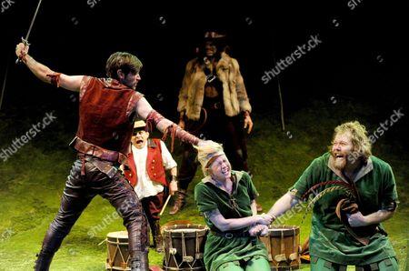 James McArdle as Robin, Iris Roberts as Marion and Olafur Darri Olafsson as Pierre