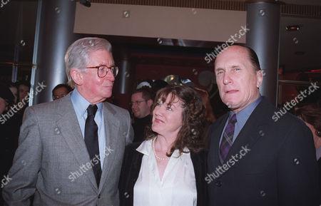 Stock Image of Director Robert Mulligan with co-stars Mary Badham and Robert Du