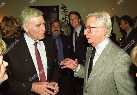 Stock Photo of Charlton Heston and Robert Mulligan