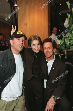 Bruce Willis, Miko Hughes and producer Brian Grazer